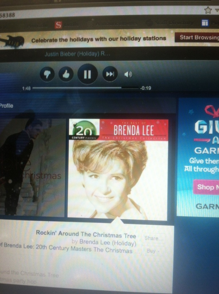 Yes, this is Justin Bieber Holiday Music station. Don't judge.