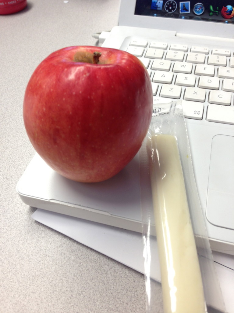 string cheese and apple