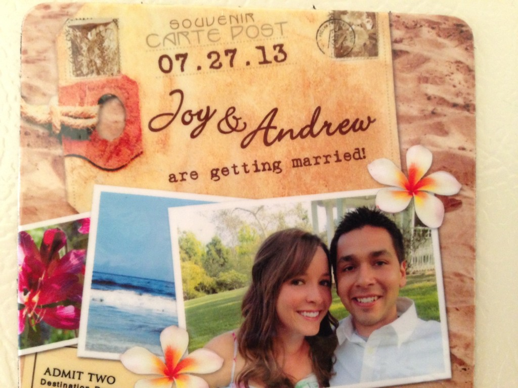 joy andrew wedding save the date