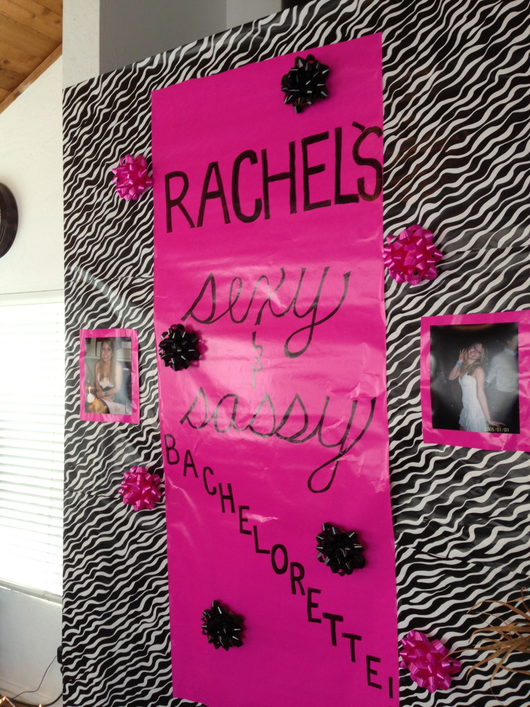 rachel bachelorette decorations