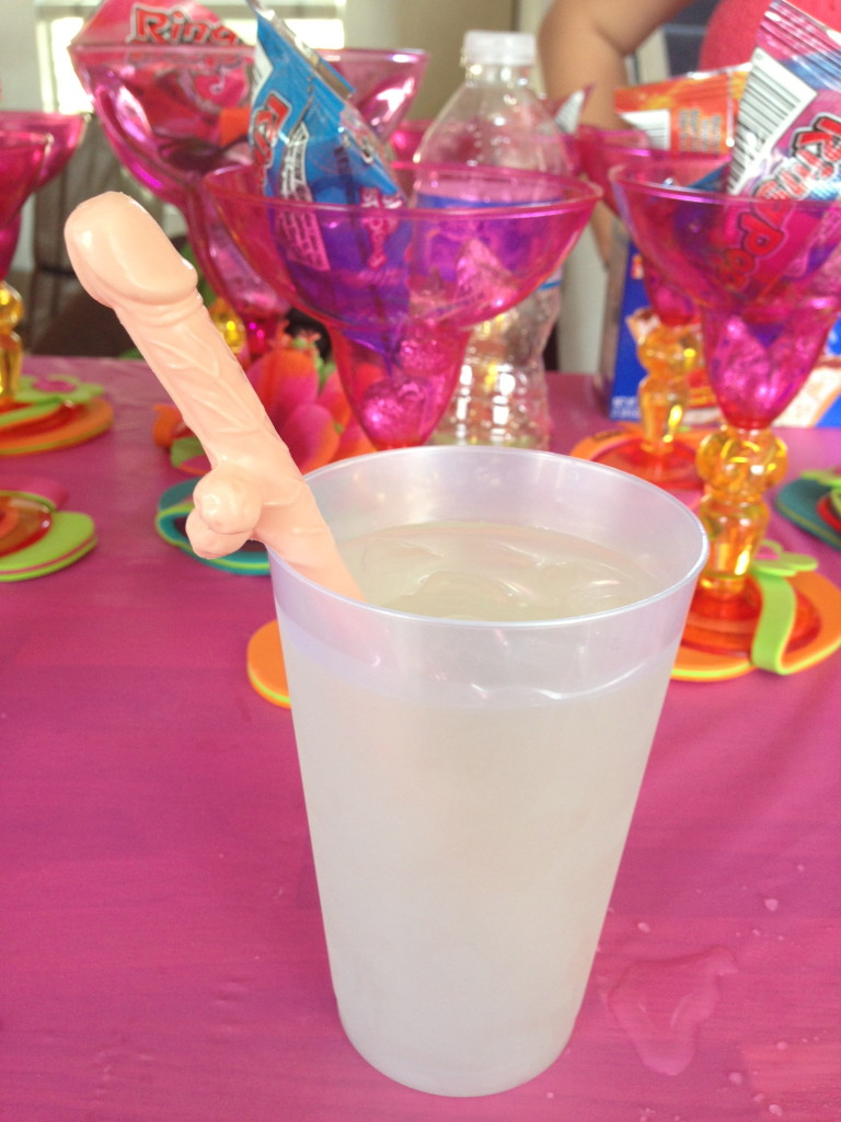 Why, yes. That's a penis straw.